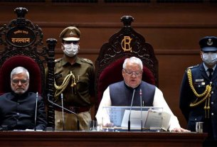 9-february-on-the-first-day-of-the-rajasthan-vidhan-sabha-budget-session-with-the-reading-the-preamble-of-the-constitution-to-governor-mishra-cm-gehlot-targeted-the-center